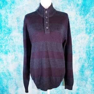 Great Northwest Striped Mock Neck Sweater